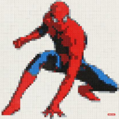 Tableau de Spiderman en lego